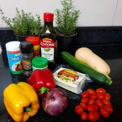 Grilled Halloumi Arugula Salad