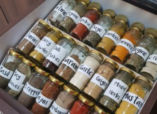 A Peek Into My Organised Spice Drawer