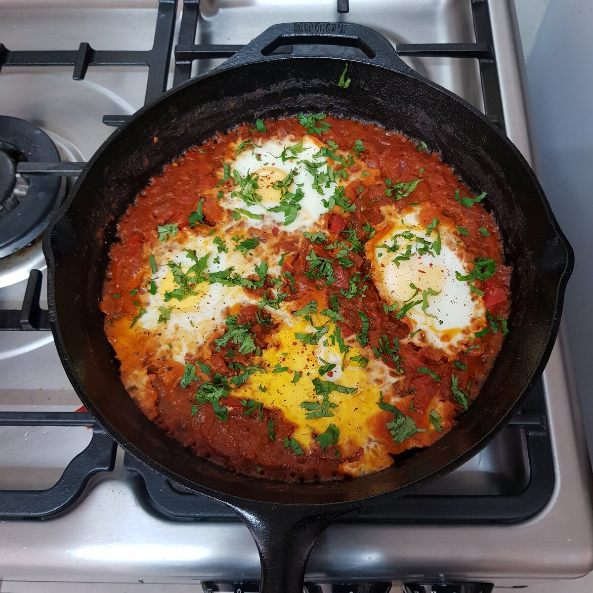 My roommate's favorite egg dish: Shakshuka